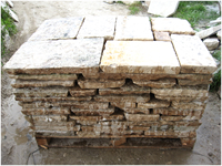 FLOORING IN  RECOVERY OLD STONE CUT 5 CM. IN PALETT DE M2 10,54, IDEAL FOR EXTERNAL PAVING.<br> AVAILABLE IN STOCK OF 500 M2 IN WAREHOUSE.(PRICE EURO 180 FOR M2)TAX EXCLUDED.<br> MAT&egrave;RIAUX ANCIENS IN RECOVERY STONE OF BOURGOGNE,RECLAIMED ANTIQUE LIMESTONE.<br> 2015 DISCOUNT 10% ( PRICE $ 24 ).